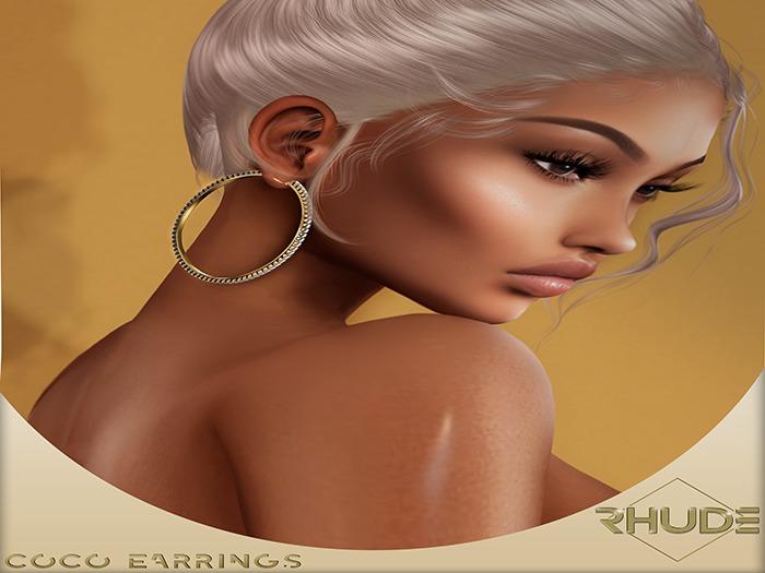 [RHUDE] Coco Earrings Fatpack B