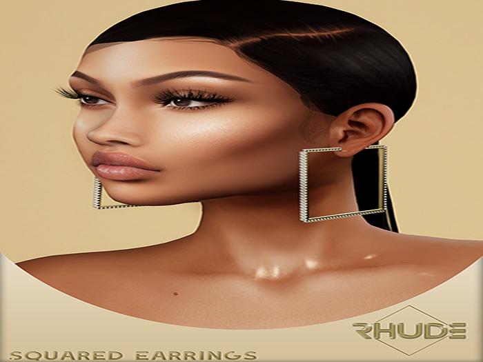 [RHUDE] Squared Earrings  Fatpack