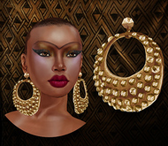 p.c; Studded Gold Circles Earrings