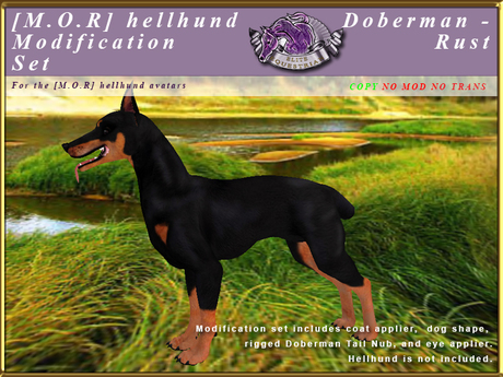 *E* Hellhund Modification Set [BOXED] Doberman Rust