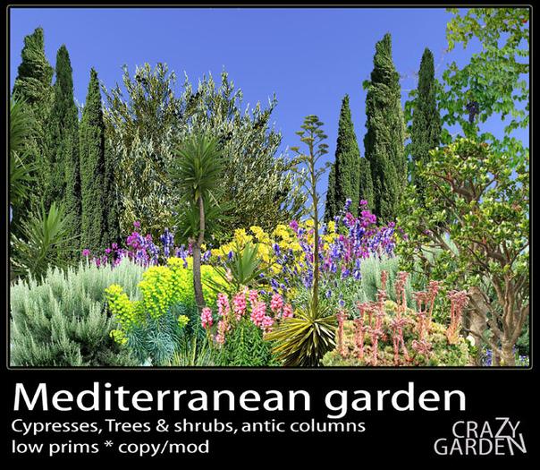 Second Life Marketplace Mediterranean Garden Mediterranean