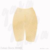 Gaia - Fishnet Shorts ORANGE