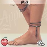 (AMD) Barcelona Anklets & ToeRing - Black (wear to unpack)