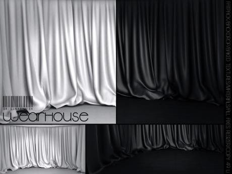 WeArH0uSE [drapes black&white] PhotoBackdrop