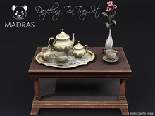 MADRAS Darjeeling Tea Tray Set Boxed