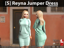 [S] Reyna Jumper Dress Turquoise