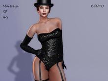 ~PP~ Le Cabaret - Black Sequin - Maitreya Slink Bento