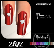 {ZOZ} Metal Heart 2 Polish (Maitreya) (wear)