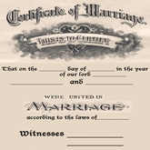 Marriage certificate copyable