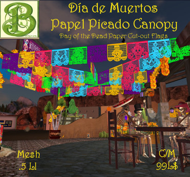 Day of the Dead Papel Picado Canopy