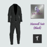 [Knight Designs} Maxwell Suit (Black)  - Tweenster