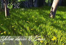 inVerse® MESH - Yellow daisies & grass meadow
