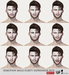 SEmotion Male Bento Flirty & Playful Expression HUD - 18 facial expressions for Catwa / Lelutka male bento heads