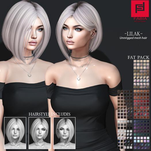 -FABIA- Mesh Hair  < Lilak>