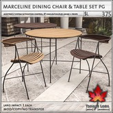 Trompe Loeil - Marceline Dining Chair & Table Set PG [mesh]