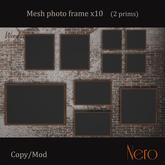 Nero - Photo frame x10 - wall model - wood (2 prims)