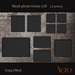 Nero - Photo frame x10 - wall model - 4 color fatpack (2 prims)