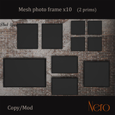 Nero - Photo frame x10 (wall model) 4 collors