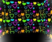 Backdrop Hearts box