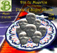 Dia de Muertos Plate of Sugar Skulls Dispenser to Wear or Dispaly, 1LI