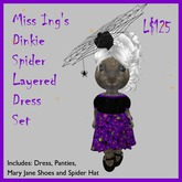 Miss Ing's Dinkie Spider Layered Dress Set