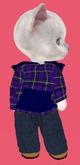 Lexxie Dinkie Plaid Blue Hoodie Combo