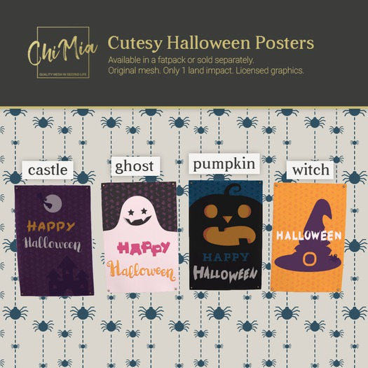ChiMia:: Cutesy Halloween Posters FATPACK