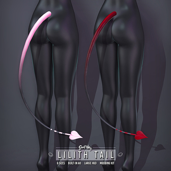 Sweet Thing. Lilith Tail (Bento) Demon Succubus Heart Spade Tail / RP Cosplay / Halloween