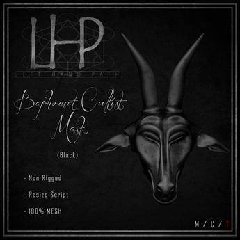 [LHP] Baphomet Cultist Mask - Black