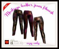Maitreya leather jeans fitmesh