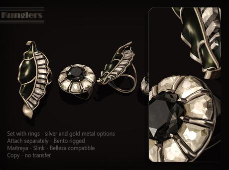 KUNGLERS - Bariska rings - Onyx