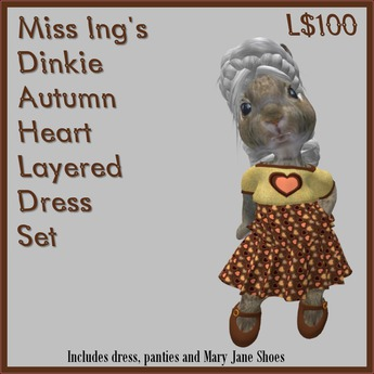 Miss Ing's Dinkie Autumn Heart Layered Dress Set