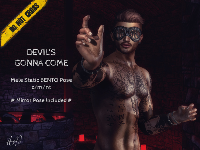 -DNC- Devil's Gonna Come - Male Bento Pose