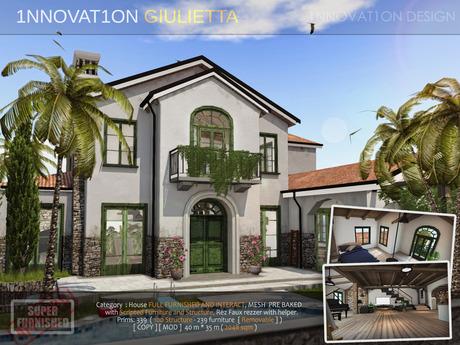 PROMO - GIULIETTA -  2018 NEW - RUSTIC MODERN  Full scripted skybox 1NNOVAT1ON Design home