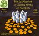 Día de Muertos 10 Candel Array on Marigolds, .5LI