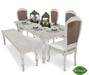 -Mint- Rustic White Table Dining Set