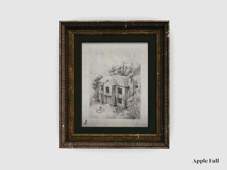 Apple Fall Original Artwork: Hillside Manor Sketch