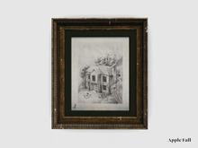 Apple Fall Original Artwork: Hillside Manor Sketch (Box)
