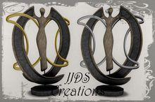 *JJDS* Goddess Moon Statue - 2 Li (Gold & Silver) (Boxed)