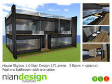PROMO FREE ITALIAN Skybox  House 1.2 Nian Design with pool