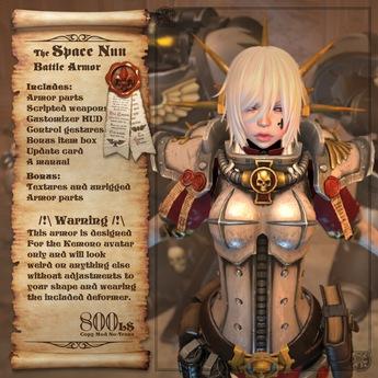 <UTILIZATOR> - Space Nun Battle Armor (for Kemono avatar)