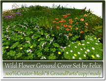 Wild Flower Ground Cover Set by Felix 8 Parts-CreatorMesh co/mo