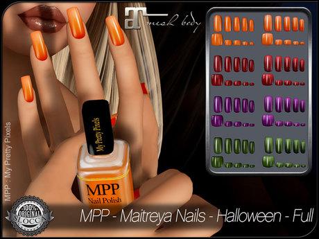 - MPP - Maitreya Finger & Toe Nails HUD - Halloween Full