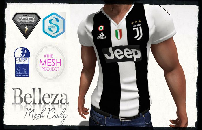 Second Life Marketplace The Man V Necked Shirt Juventus