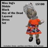 Miss Ing's Dinkie Black DOD Layered Dress Set
