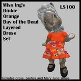 Miss Ing's Dinkie Orange DOD Layered Dress Set