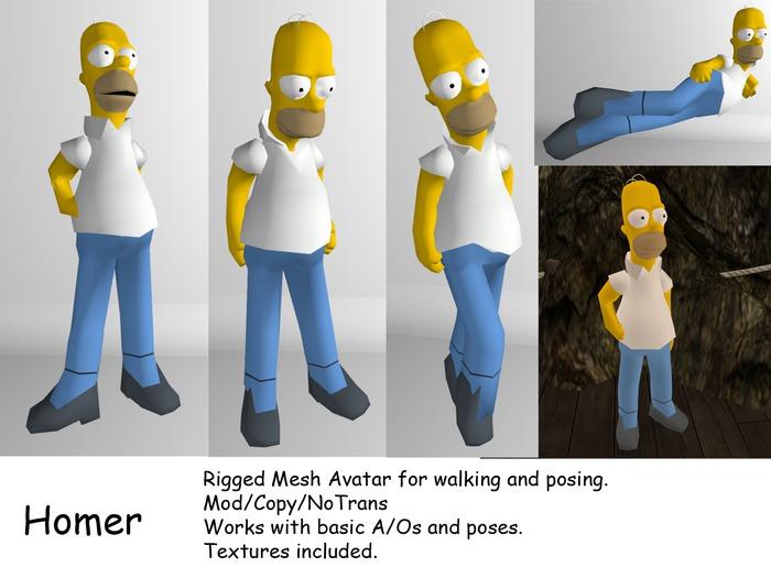 Homer Mesh Avatar 1.0