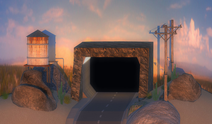 "***Mesh Dreams*** Mesh Backdrop ""The Lonesome Road"""