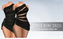 iS Zipper Mini Dress BLACK