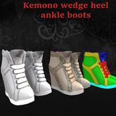 !!PF!! Kemono wedge heel ankle boots